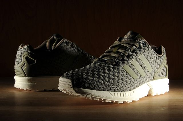 Adidas Zx Flux Reflective Weave Olive 2