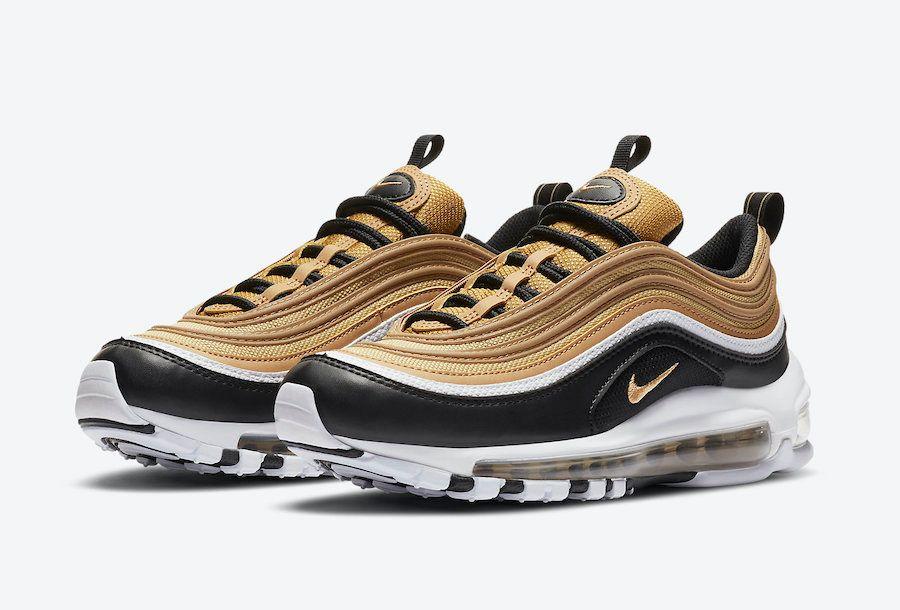 Nike Air Max 97 Black and Gold Angled