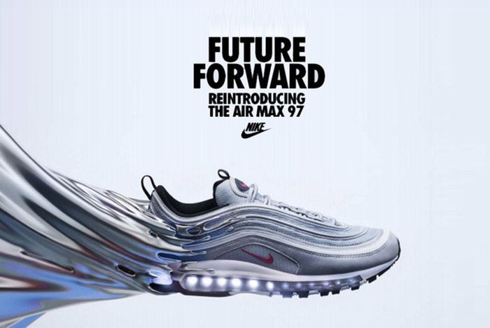 Nike Air Max 97 Silver Bullet La Silver Small