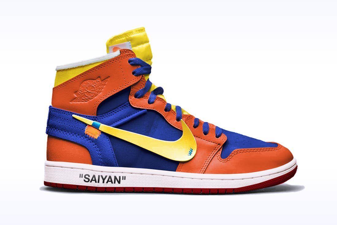 Nike Dragon Ball Z Chad Manzo Off White Air Jordan 1 Goku