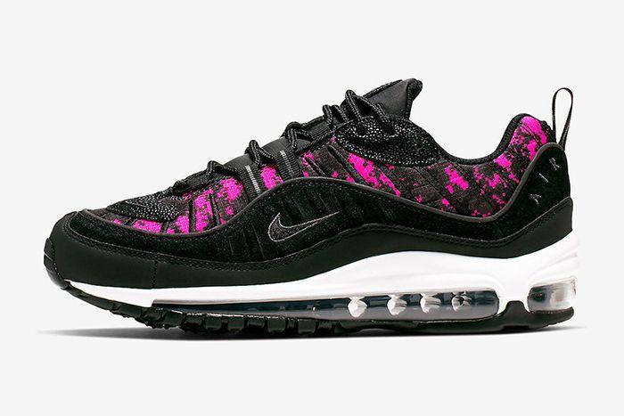 Nike Air Max 98 Pixel Camo Black Hyper Pink Ci2672 001 Release Date Lateral