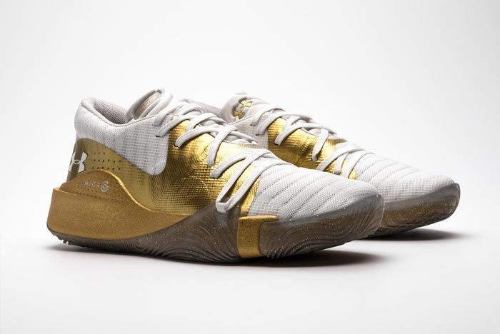 Under Armour Anatomix Spawn Low Gold White Pair