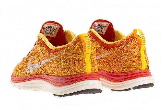 Nike Flyknit Lunar 1 Team Orange 4