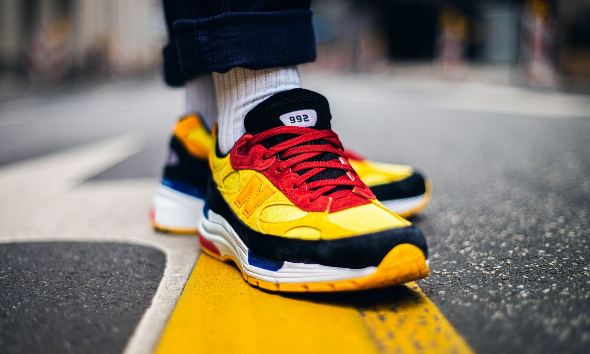 New Balance 992 Bright Yellow Front
