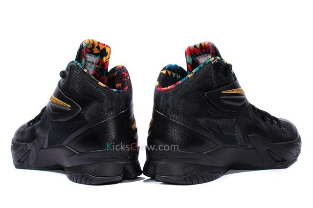 Nike Zoom Soldier Viii Prm Black Metallic Gold 2