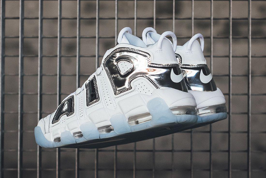 Nike Air More Uptempo White Chrome 2