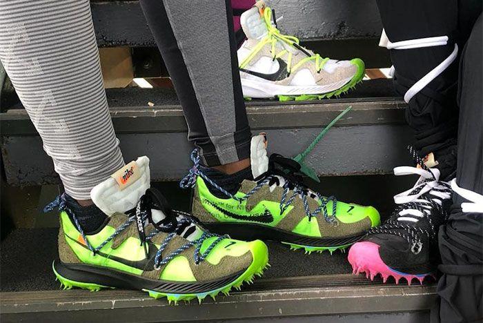 Virgil Abloh Off White Nike Sneaker Coachella 2019 Womens Running Front Shot 2