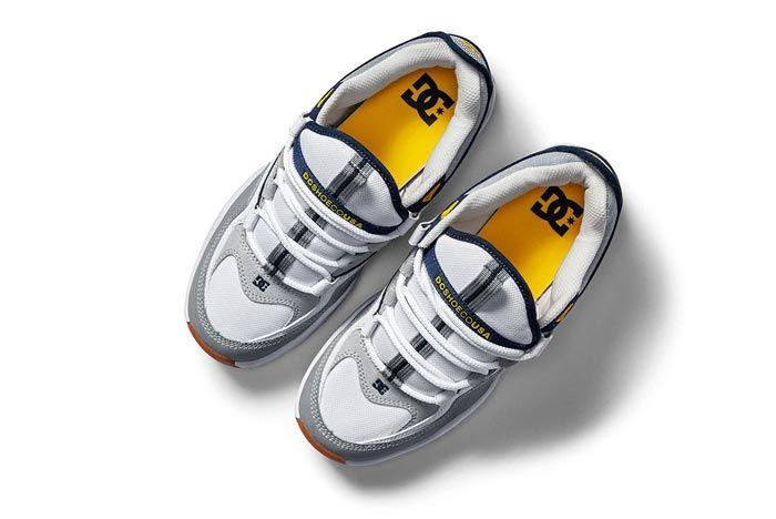 Dc Shoes Kalis Og White Grey Blue Top