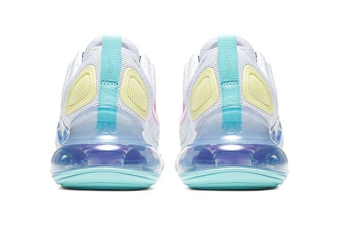 Nike Air Max 720 White Light Aqua Psychic Powder Ar9293 102 Release Date Heel