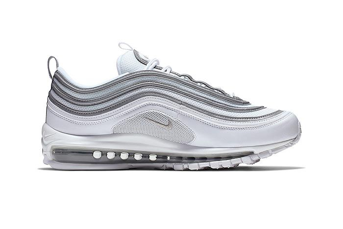 Nike Air Max 97 White Metallic Silver Medial