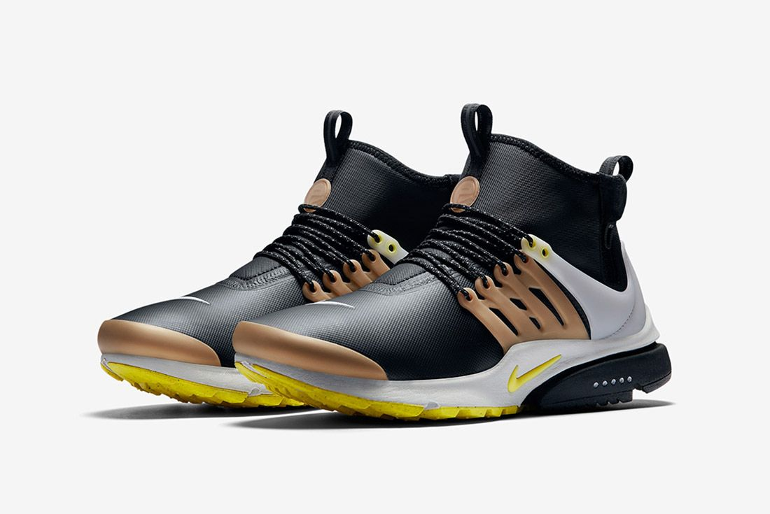 Nike Air Presto Utility Mid Black Yellow Gold 5