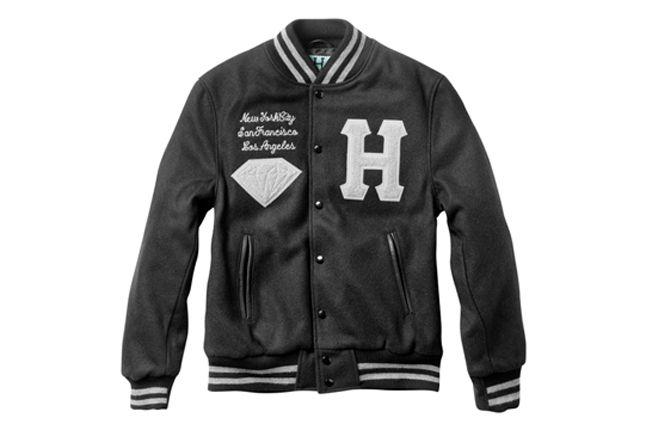 Huf Diamond Collection Varsity Jacket 1