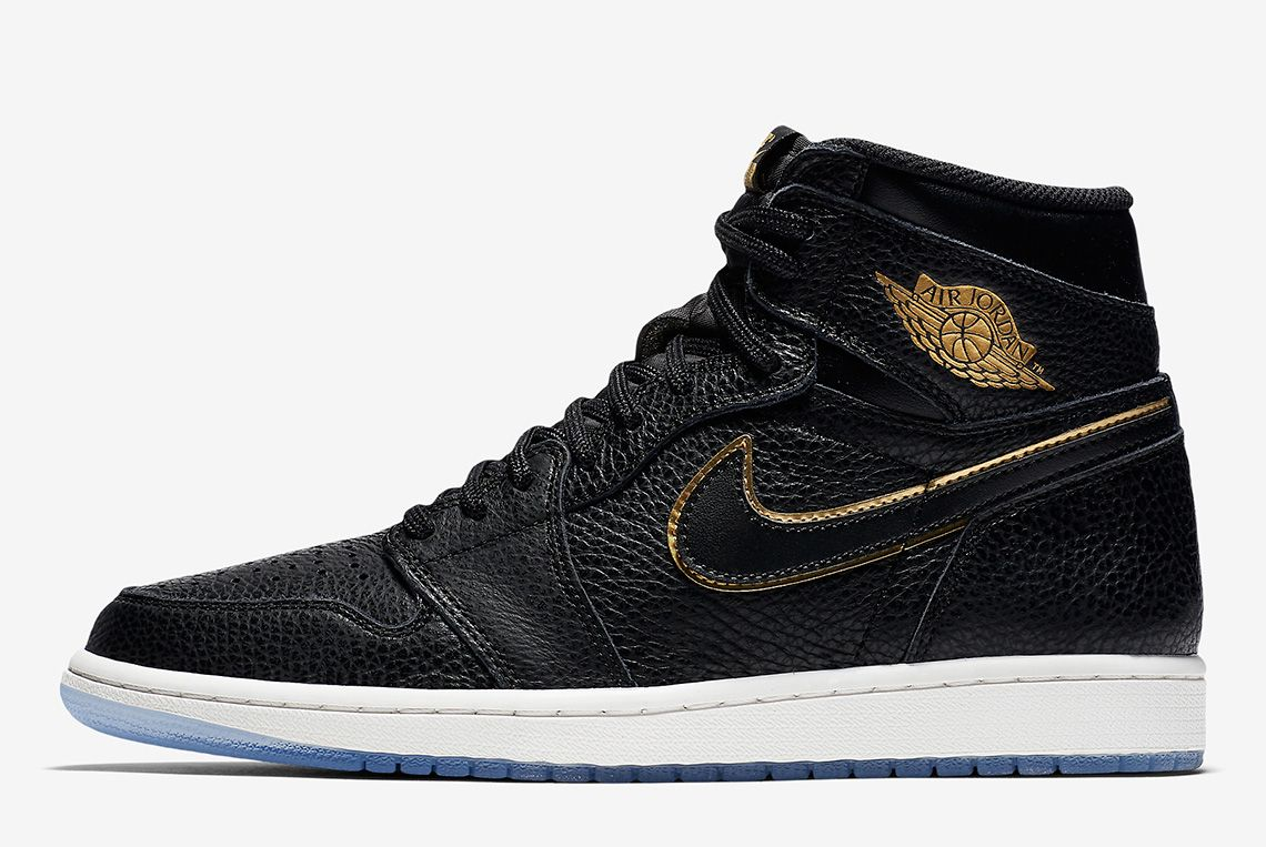Air Jordan 1 Tumbled Leather Blackgold 3