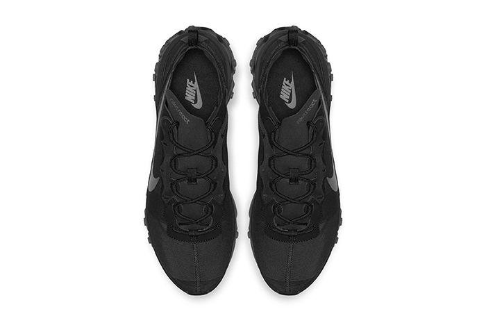 Nike React Element 55 Triple Black 2