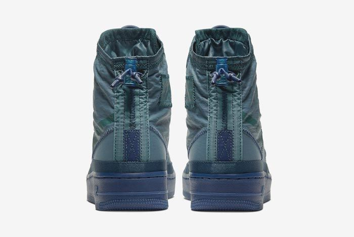 Nike Air Force 1 Shell Midnight Turquoise Heels