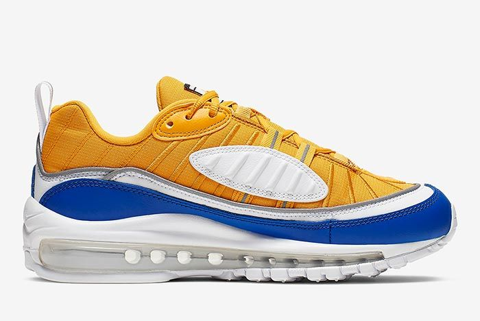 Nike Air Max 98 Yellow White Blue At6640 700 Medial