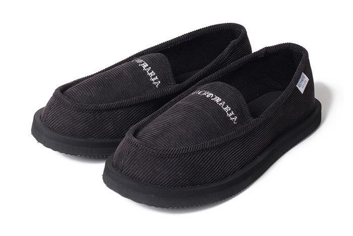 Wacko Maria Suicoke Deebo Shoes Black Three Quarter Angle Shot