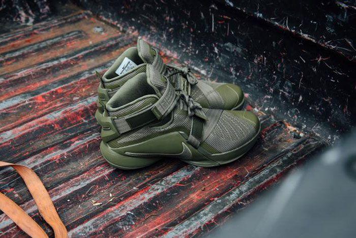 Nike Lebron Zoom Soldie 9 Olive 6