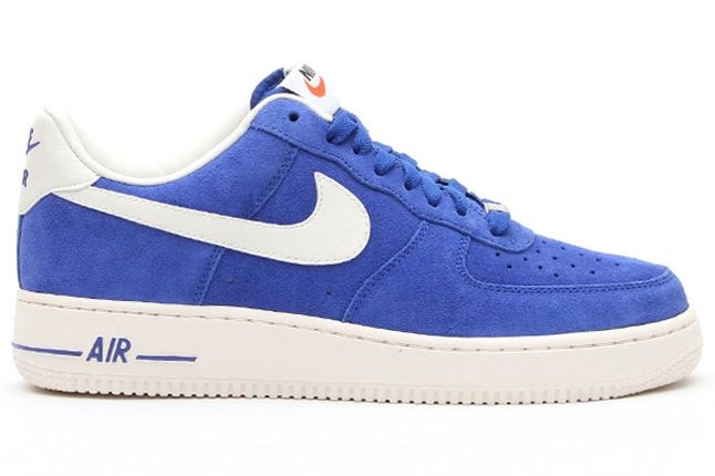 Nike Air Force 1 Low Suede Blue Profile 1