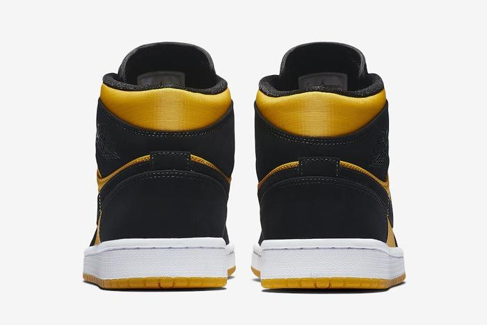 Air Jordan 1 Black University Gold Heels