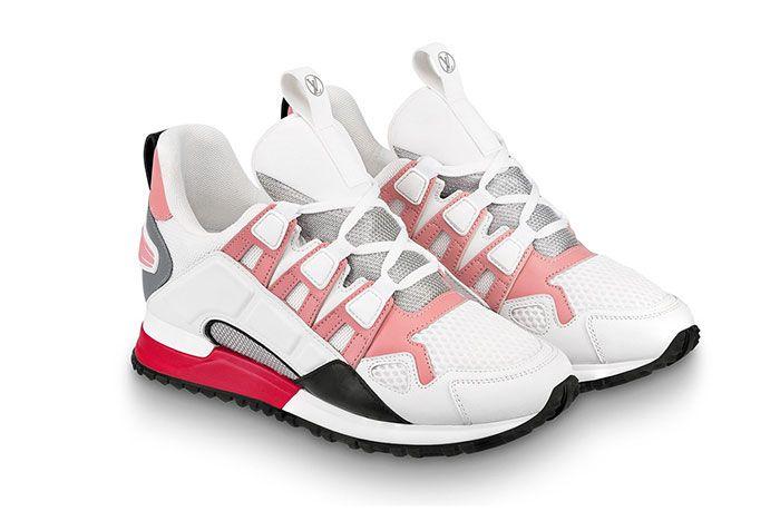 Louis Vuitton Run Away White Pink Front Angle