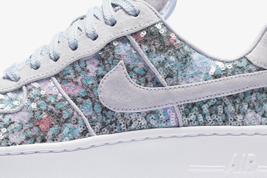 Nike Air Force 1 Upstep Low Glass Slipper 7