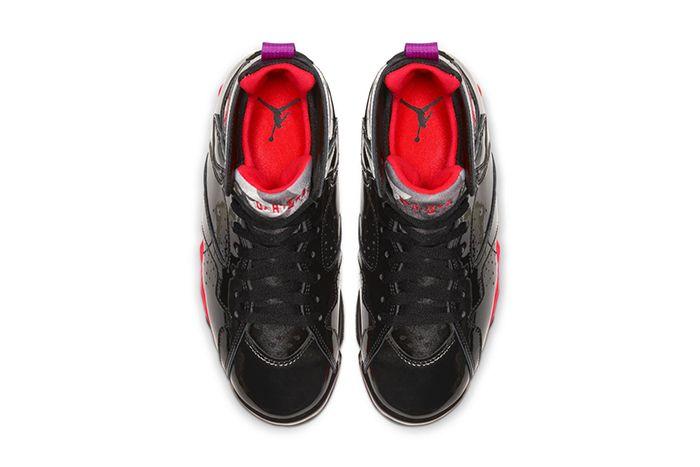 Air Jordan 7 Wmns Black Gloss 313358 006 Release Date Top Down
