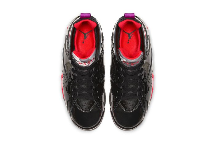 Air Jordan 7 Wmns Black Gloss 313358 006 Release Date Top Down