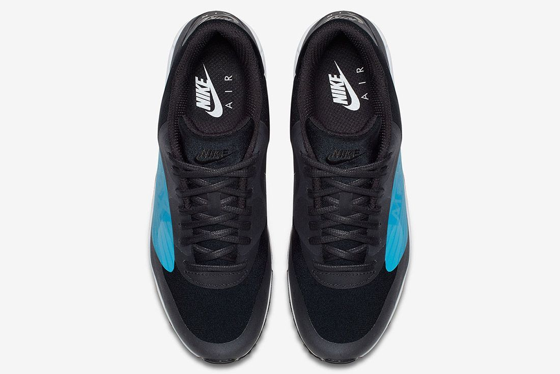 Nike Air Max 90 Big Logo Laser Blue Black Sneaker Freaker 5
