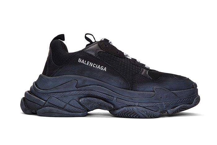 Balenciaga Triple S Sneaker Smudged Distressed Colorway 1 Side