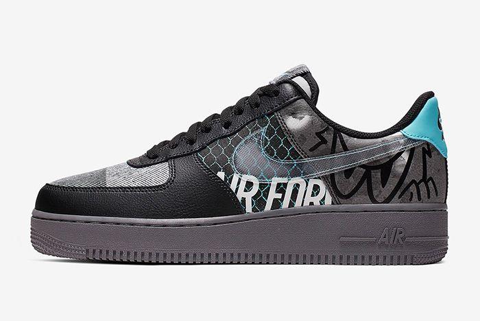 Nike Air Force 1 Graffiti Left Side Shot