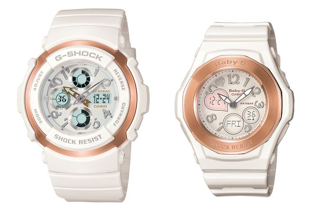 G Shock November Lovers White 1