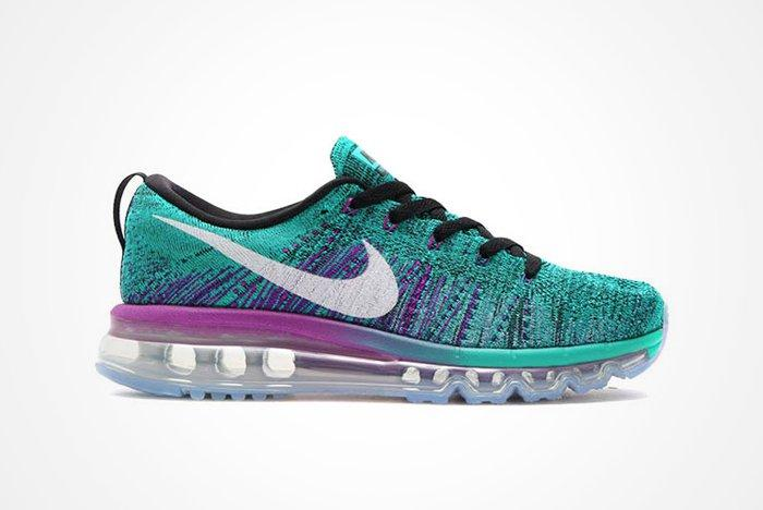Nike Wmns Flyknit Air Max Clear Jade Hyper Violet A