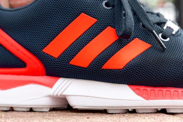 Adidas Originals Zx Flux Dark Blue Solar Red 3