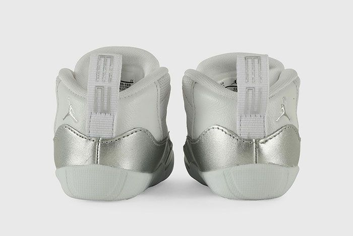 Air Jordan 11 Infant Metallic Silver Ci6165 100 Heel