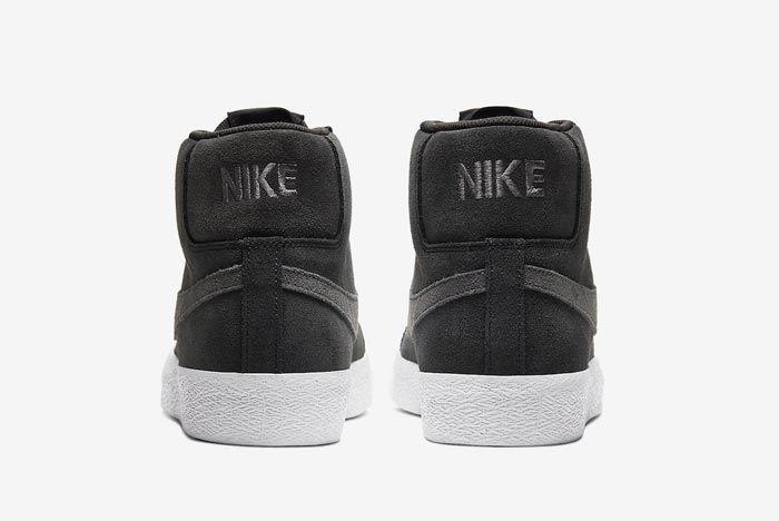 Nike Sb Blazer Black Grey Heels