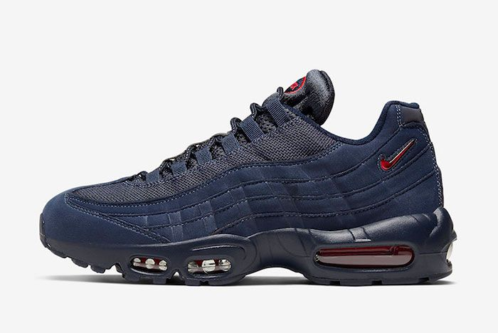Nike Air Max 95 Navy Red Cq4024 400 Lateral