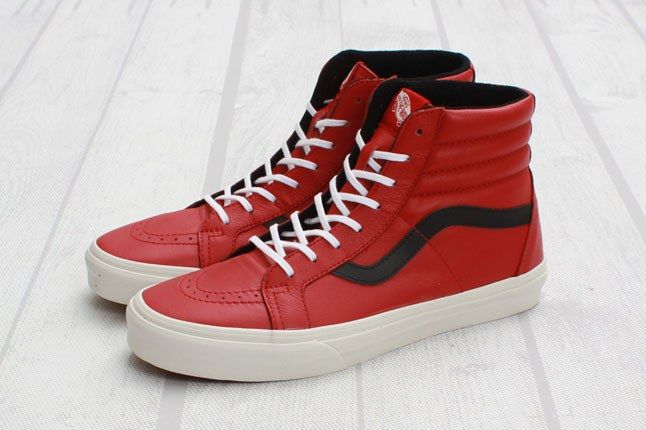 Vans Sk8 Hi Reissue Leather Chili Pepper Angle 1