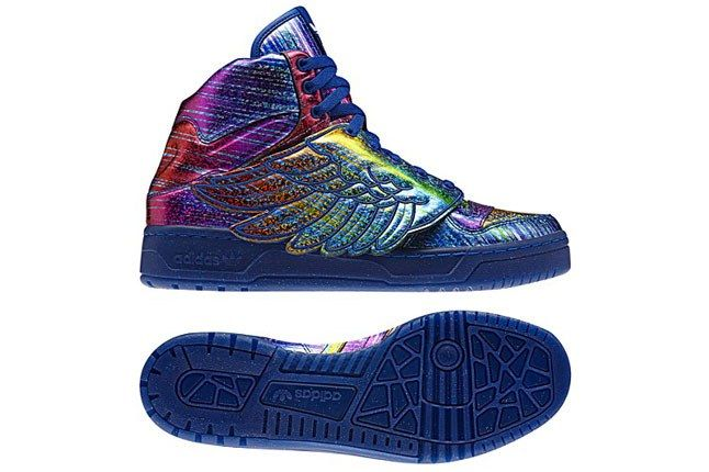 Jeremy Scott X Adidas Originals Hologram Rainbow Outsole 1