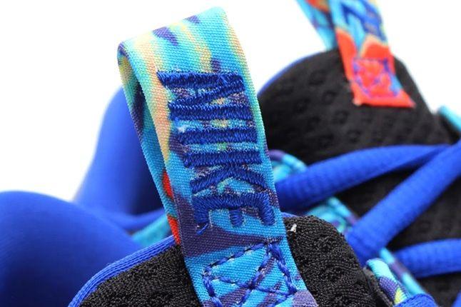 Nike Solarsoft Moccasin Sp Tropical Floral Pack Blue Orange Tongue Detail 1