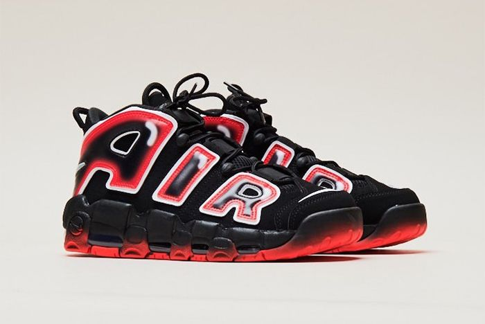 Nike Air More Uptempo Laser Crimson Right