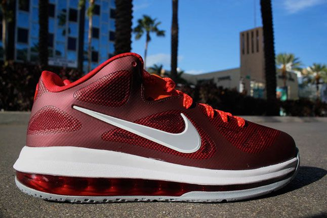 Nike Lebron 9 Low Team Red Wolf Grey Challenge Red Total Orange 01 1