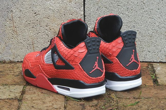 Jbf Customs Jordan Iv Fire Red Python 5 1