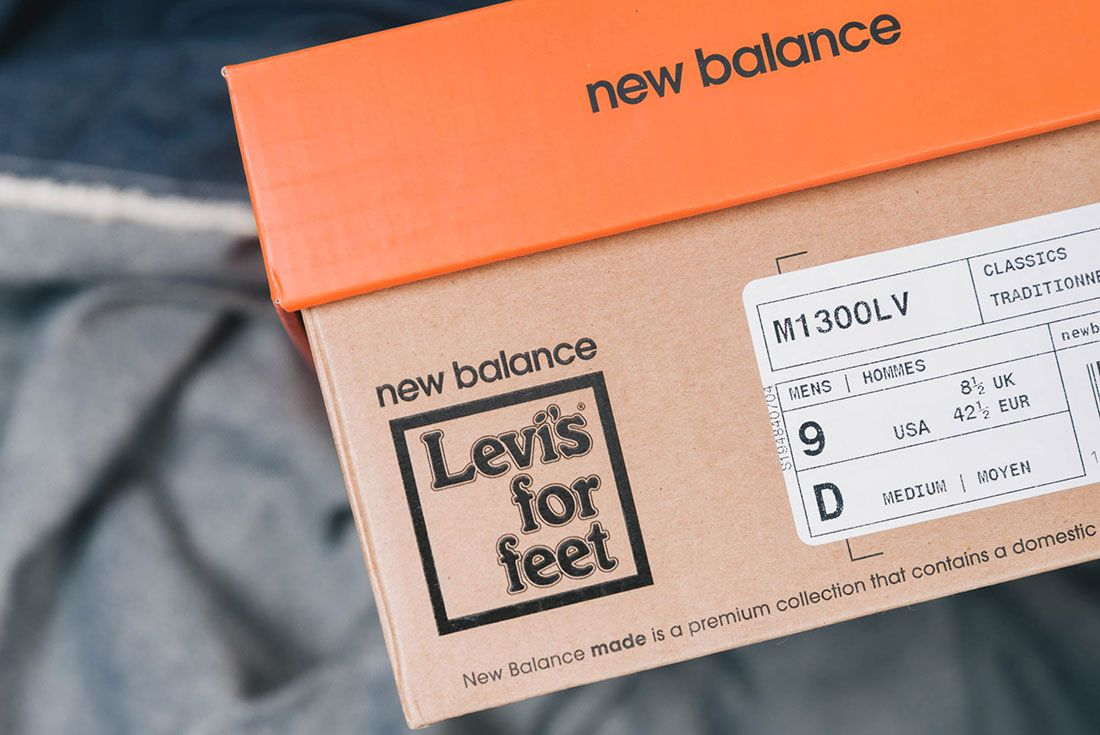 Up There New Balance M1300Lv Levis Box Label