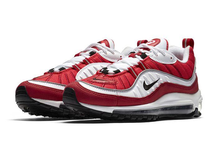Nike Air Max 98 Womens Red White 2