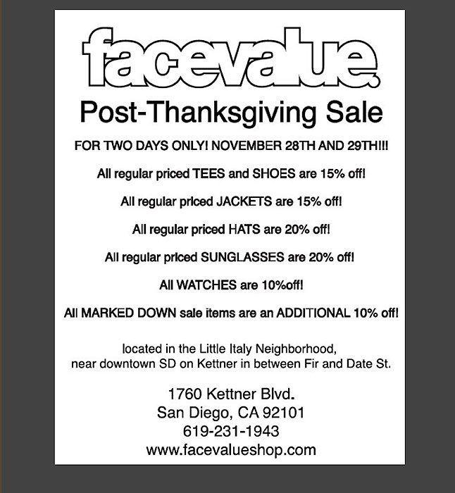 Facevalue Sale 4