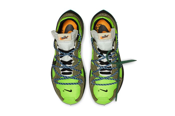 Off White Nike Zoom Terra Kiger 5 Green Release Date Top Down