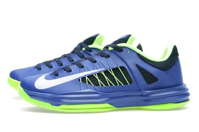 Nike Hyperdunk Low Hyperblue Elecgreen Profile 1