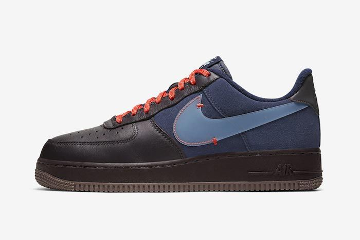 Nike Air Force 1 Burgundy Ash Celestine Blue Lateral