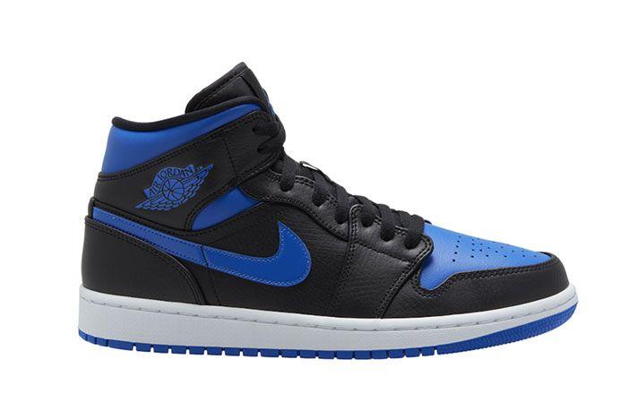 Air Jordan 1 Mid Royal Black Blue 554724 068 Side